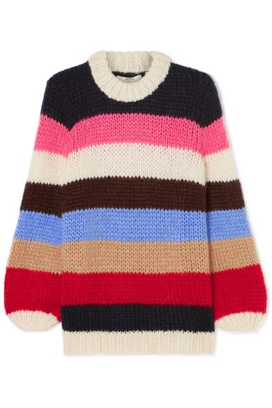 9d270957b47 Ganni Julliard Multistripe Mohair & Wool Sweater In Multicolour ...