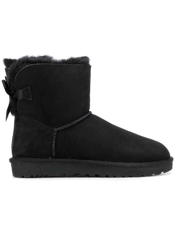 Ugg Black Mini Bailey Bow Low Boot