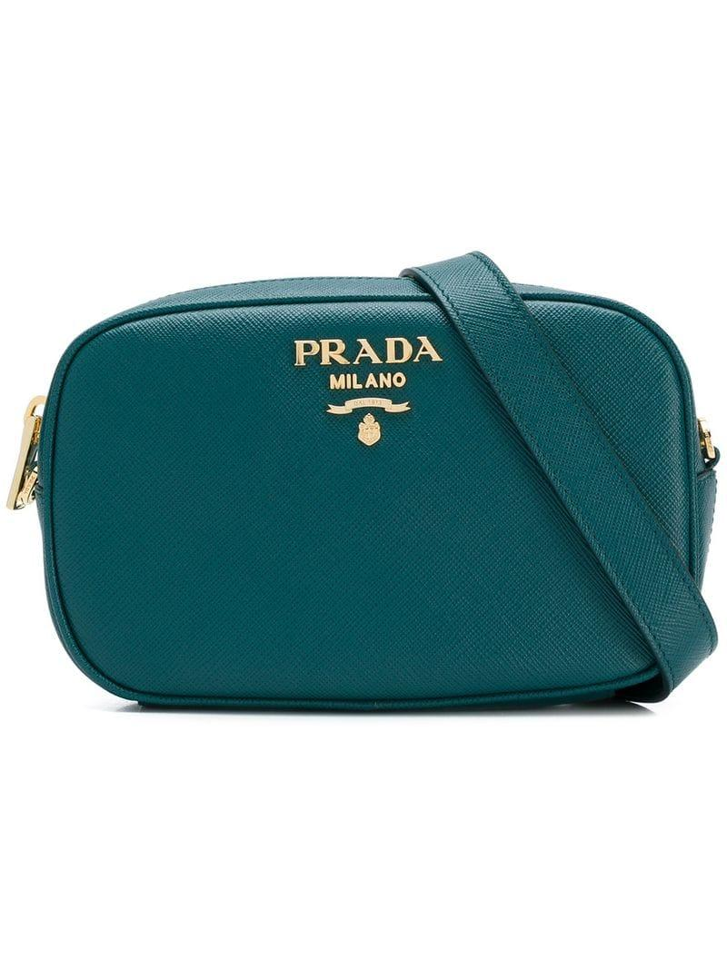 9de9e8f680b2 Prada Saffiano Leather Belt Bag In Green