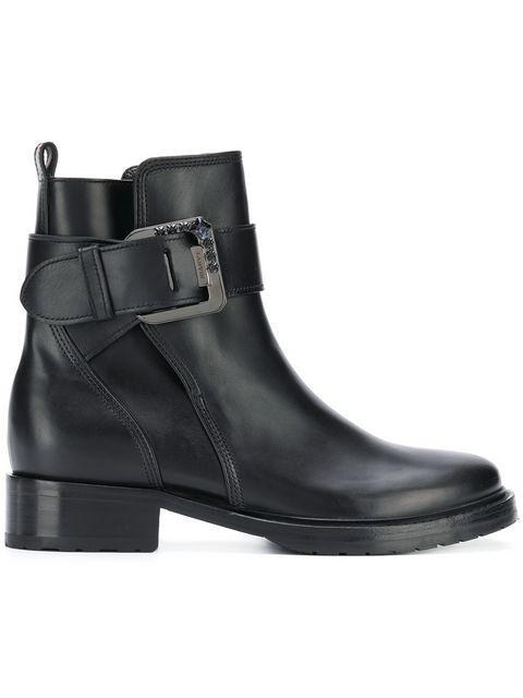 Lanvin Buckle Ankle Boots In Black