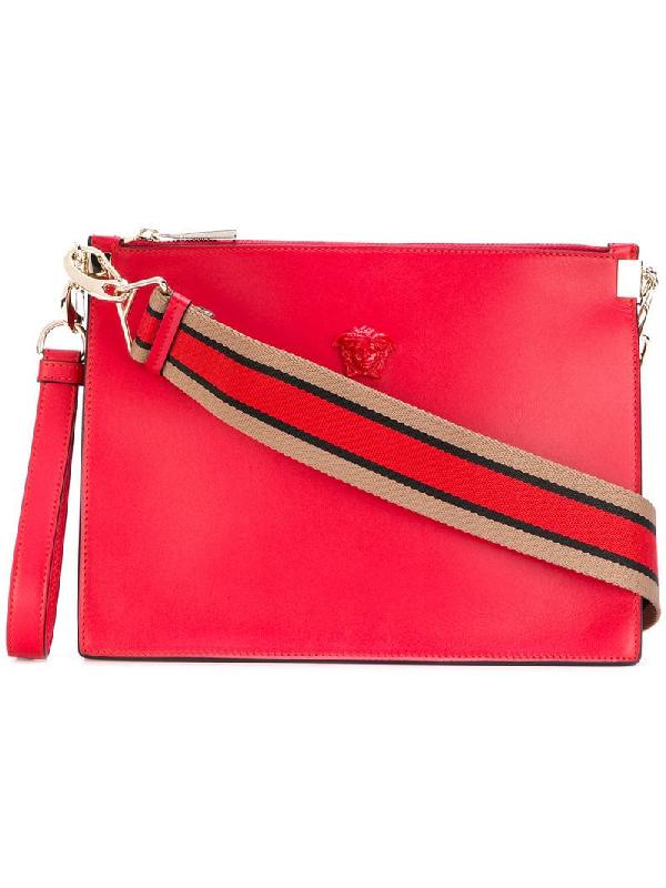 4a76065b094 Versace Palazzo Medusa Wristlet Clutch Bag - Red | ModeSens