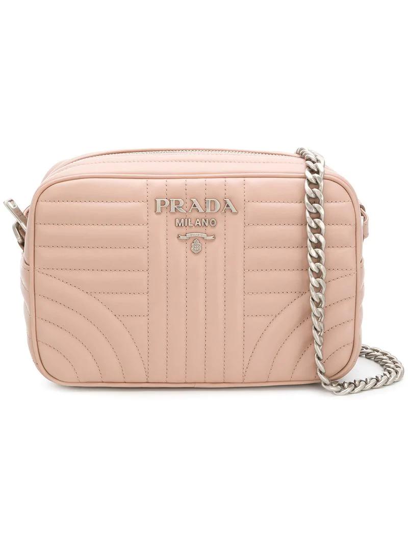 6f7508f55bfb Prada Diagramme Crossbody Bag In Pink