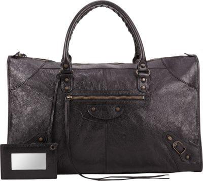 Balenciaga Arena Leather Classic Work Bag In Nero