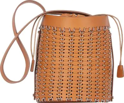 Paco Rabanne 14#01 Chain Mail Bucket Bag In Camel