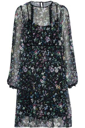 R13 Floral-print Silk-chiffon Dress In Black
