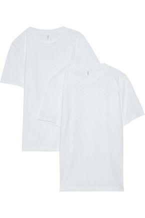 Acne Studios Set Of Two Dorla Cotton-jersey T-shirts In White