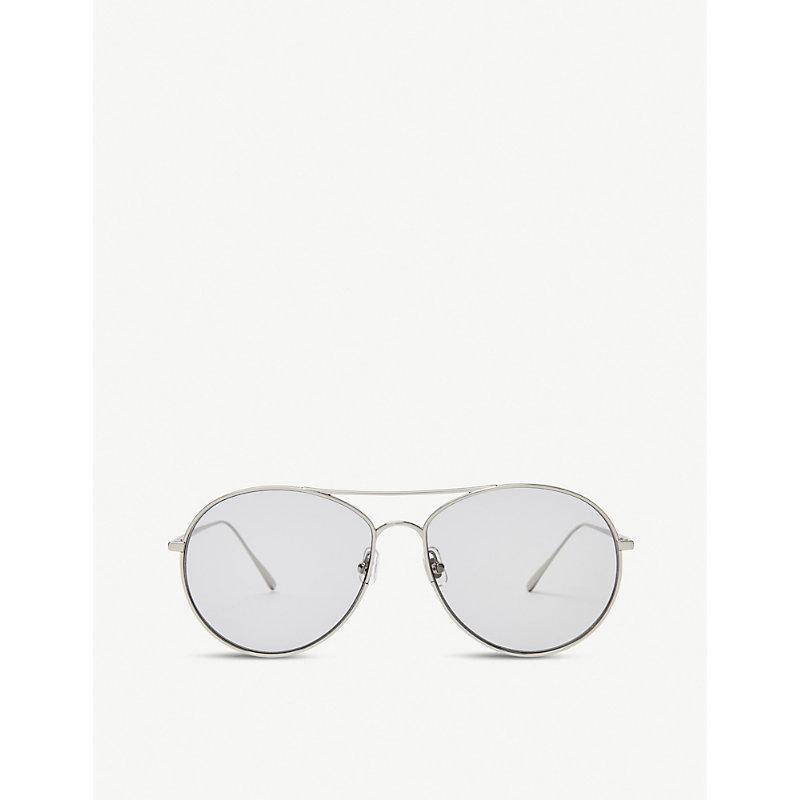 a7194c6f8736 Gentle Monster Ranny Ring Monel And Titanium Sunglasses In Silver Grey
