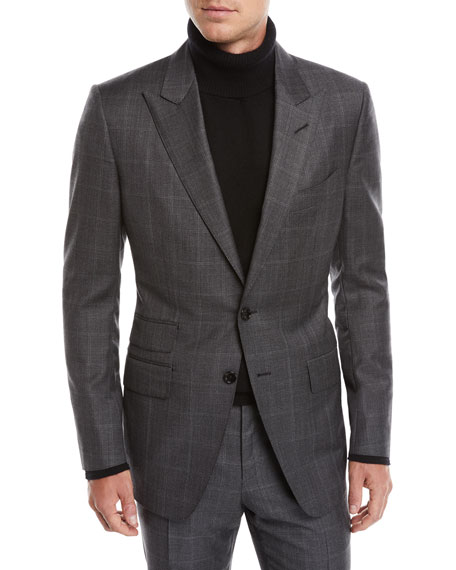 Tom Ford Men's O'Connor Overcheck Two-Piece Wool Suit In Silver