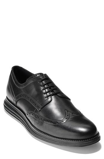 241113f446586 Cole Haan Men's Original Grand Wing Oxfords Men's Shoes In Black/ Black