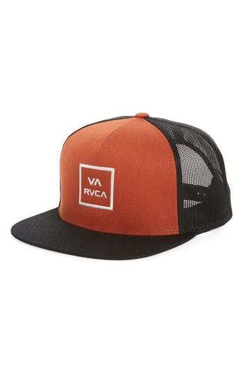 ae6a6db83d228f Rvca Va All The Way Trucker Hat In Blue/ Grey | ModeSens