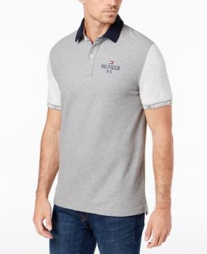 c3c74529 Tommy Hilfiger Men's Carl Custom Fit Polo Shirt, Created For Macy's In  Sport Grey Heather