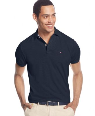 e18bb71e Tommy Hilfiger Men's Long-Sleeve Classic-Fit Polo, Created For Macy's In  Navy