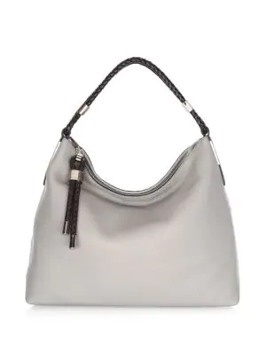 a44edf3a1c7db6 Michael Kors Skorpios Leather Hobo Bag In Concrete | ModeSens