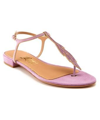 Salvatore Ferragamo Milli Leather Thong Sandal In Nocolor