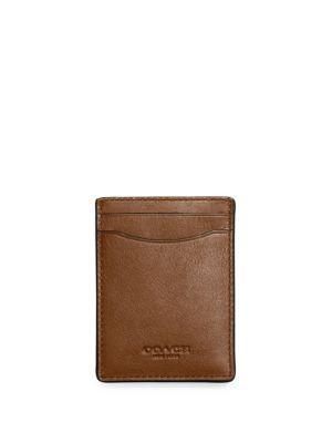 78c43b5d63e83 Coach 3-In-1 Leather Card Case In Dark Saddle