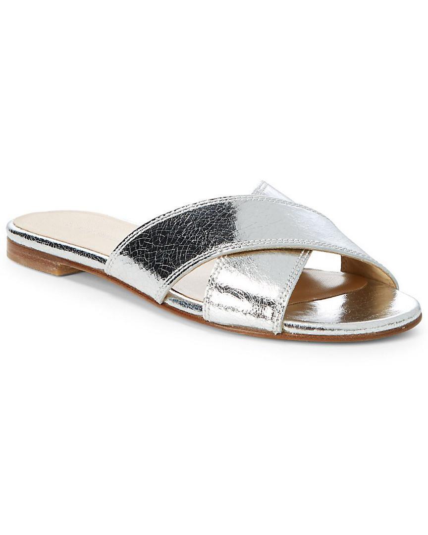 793cb8da Stuart Weitzman Byway Leather Slide In Nocolor | ModeSens
