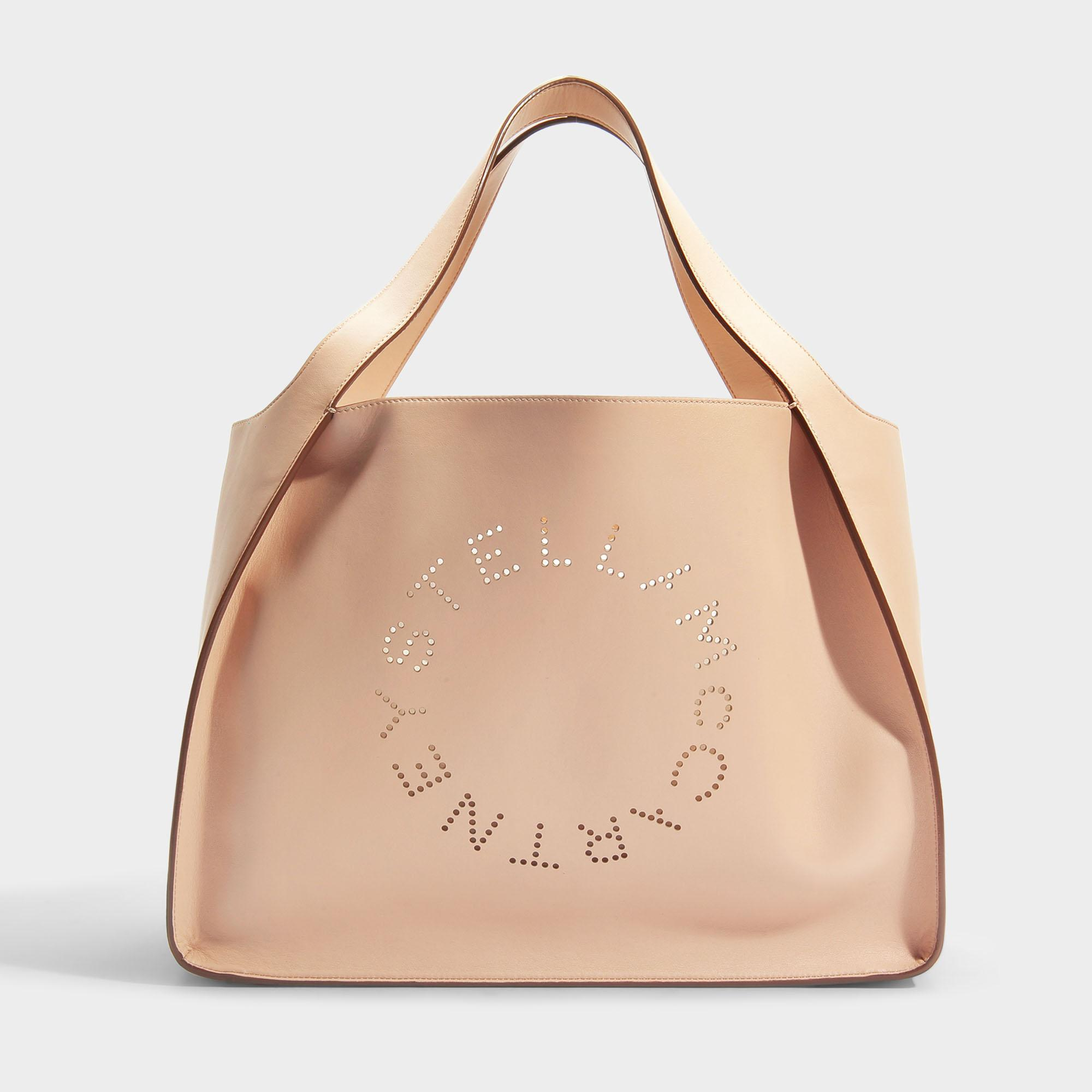 Stella Mccartney | Logo Bag Alter Nappa Small Tote In Black Synthetic  Material in Pink