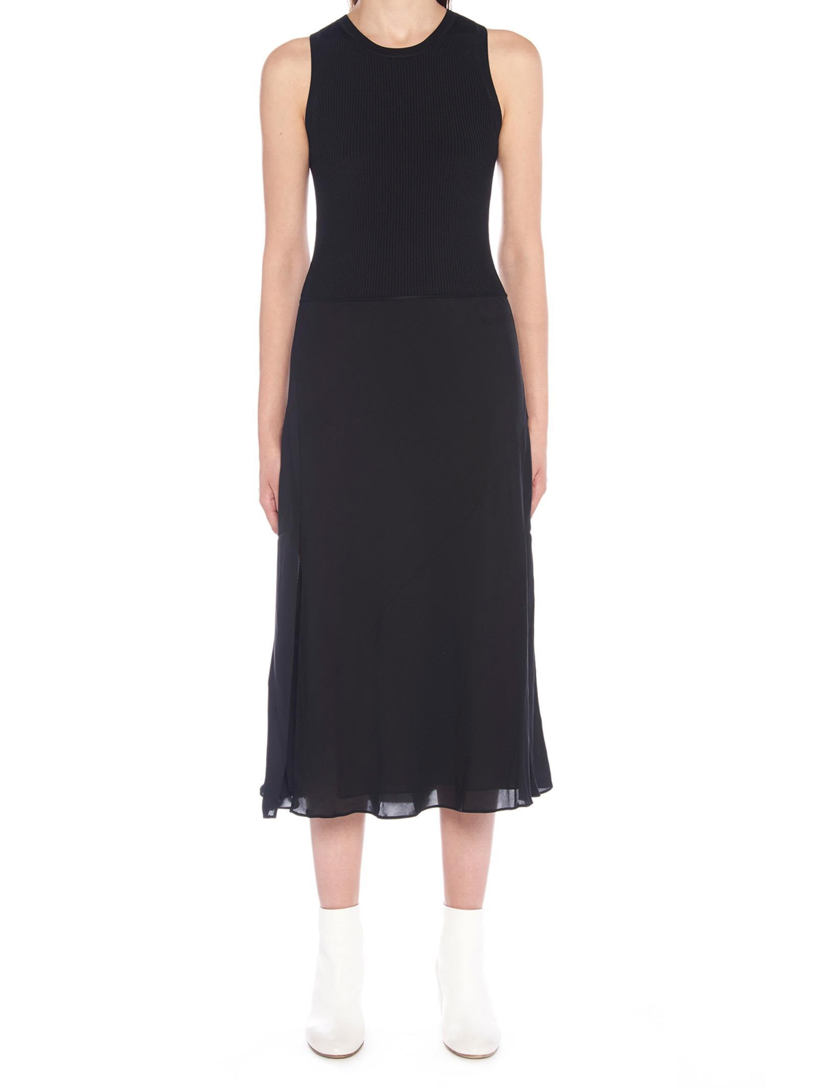 b158ed443547f Theory 'Silk Combo' Dress In Black | ModeSens