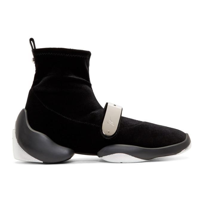 b28ffa4014d69 Giuseppe Zanotti Black Light Jump Stretch High-Top Sneakers   ModeSens