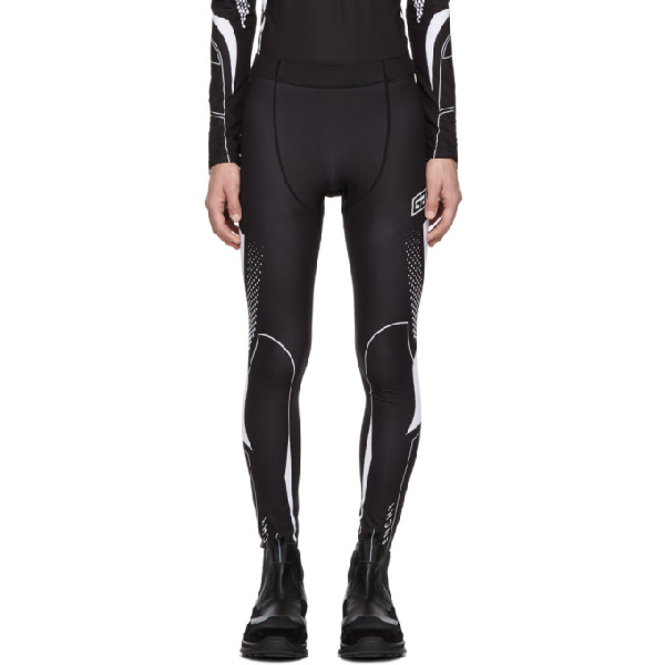 4899463f9c45d Givenchy Two-Tone Logo-Print Stretch-Jersey Tights - Black | ModeSens