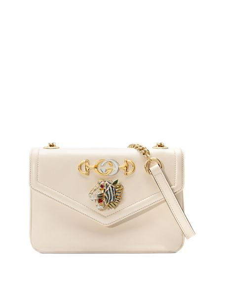 4c8b1851d5a Gucci Linea Rajah Medium Leather Shoulder Bag In White