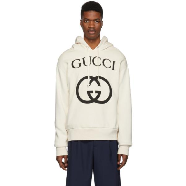 e52cefb05a71 Gucci Men's Gg Logo Hoodie Sweatshirt, Beige In 9524 Ivory | ModeSens