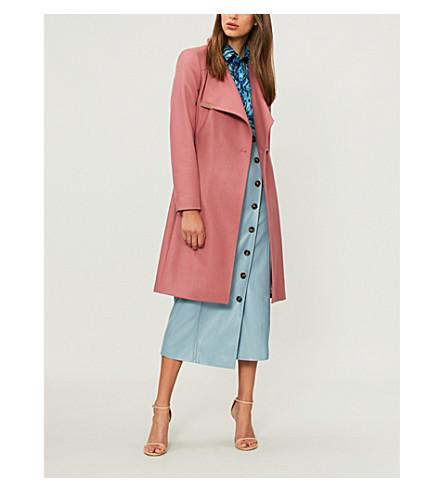 1b57234d255 Ted Baker Sandra Wool-Blend Wrap Coat In Coral
