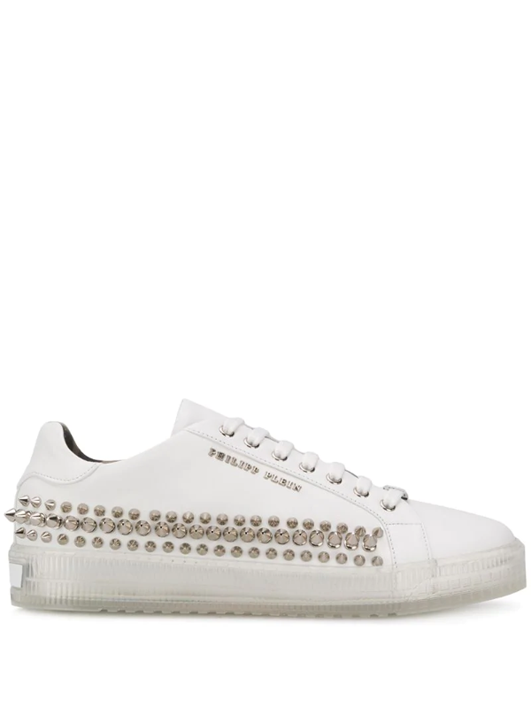 Philipp Plein Low-top Studded Sneakers In White