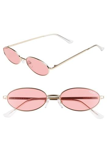 ef7be262dc Quay Clout 54Mm Round Sunglasses - Gold  Red