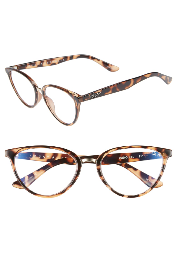 37b02cd89b0ea Quay Women s Rumours Blue Light Cat Eye Glasses