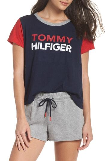 b26614096c Tommy Hilfiger Logo Tee In Navy Blazer | ModeSens