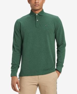 6b20ff9d Tommy Hilfiger Men's Classic Fit Long Sleeve Polo Shirt, Created For Macy's  In Juniper Heather