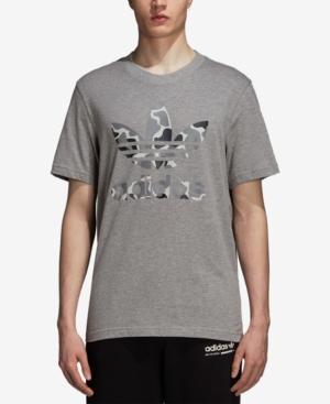 adidas Originals T Shirt print medium grey