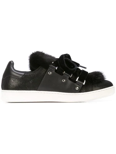 Moncler Ambre Sneakers In Black