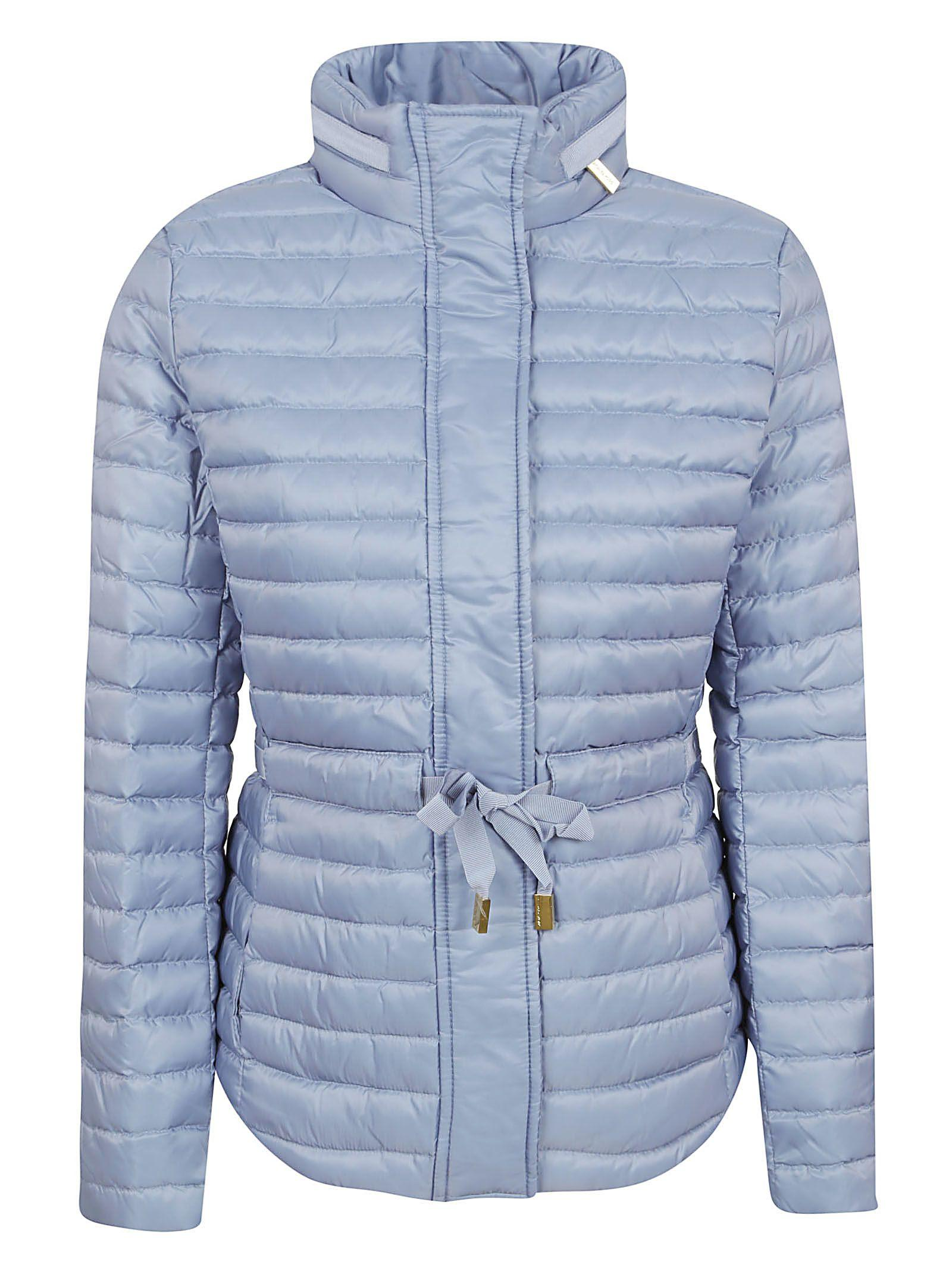 75ee0d71b3 Michael Kors Tie Waist Padded Jacket In Chambray | ModeSens