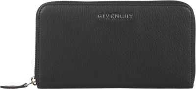 Givenchy Pandora Leather Zip Continental Wallet In Llack