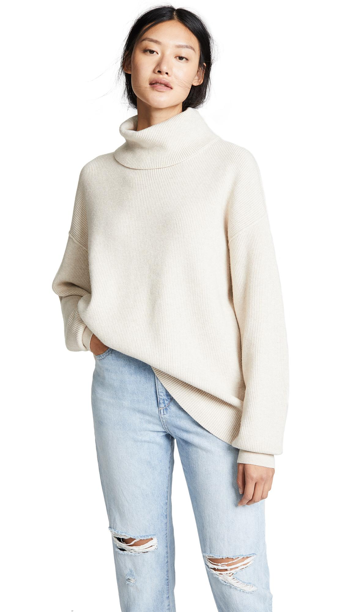5e4859b6b1a6 Free People Softly Structured Tunic Sweater In Oatmeal Heather ...