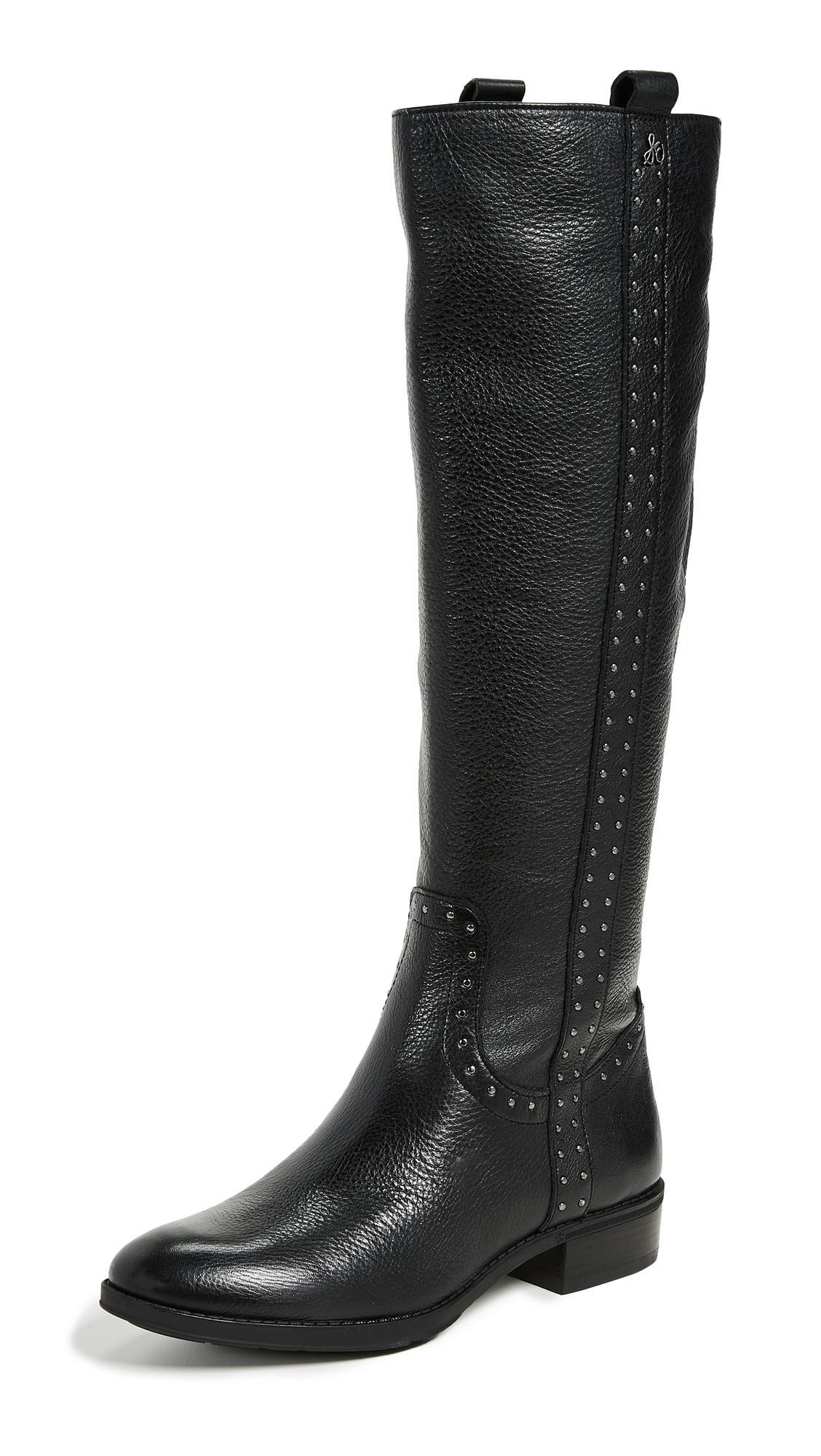 18626b546 SAM EDELMAN Women s Prina 2 Wide Calf Tall Leather Boots in Black. Sam  Edelman Women