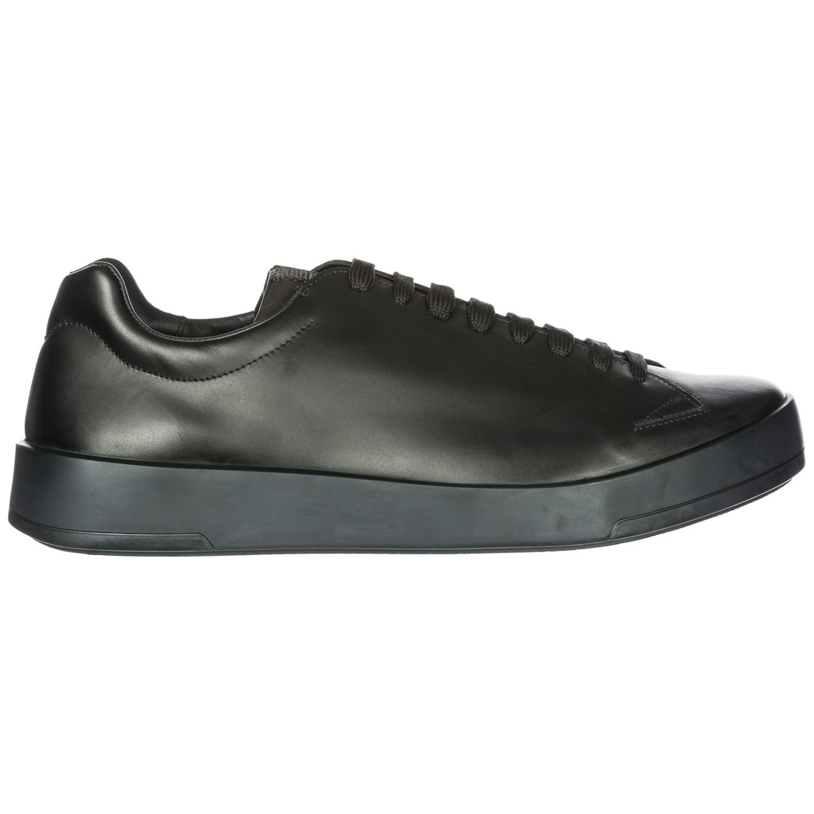 14762269929f1 Prada Herrenschuhe Herren Leder Schuhe Sneakers In Black