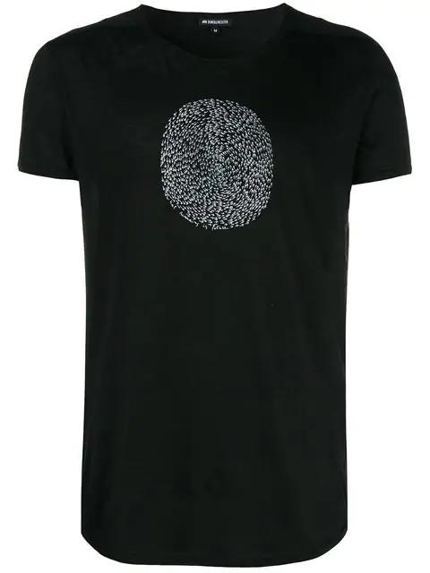 Ann Demeulemeester Printed Crewneck T-shirt - Black