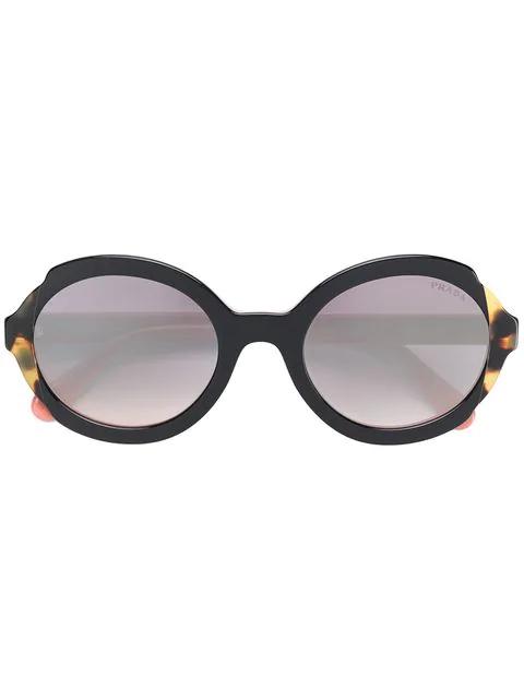 4199eefd368f Prada Eyewear Round Frame Sunglasses - Black