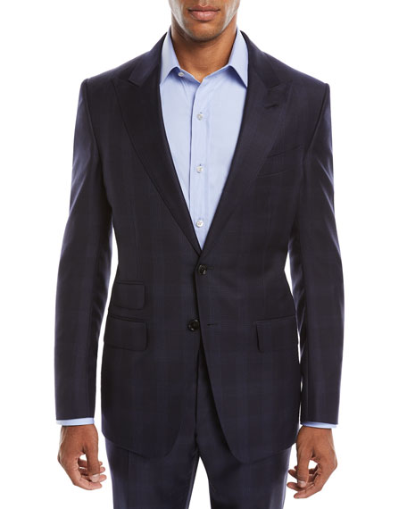 Tom Ford Men's O'Connor Overcheck Two-Piece Wool Suit In Navy