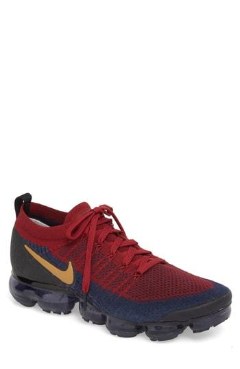 size 40 d4f3e c8ddc Air Vapormax Flyknit 2 Running Shoe in Team Red/ Wheat/ Obsidian