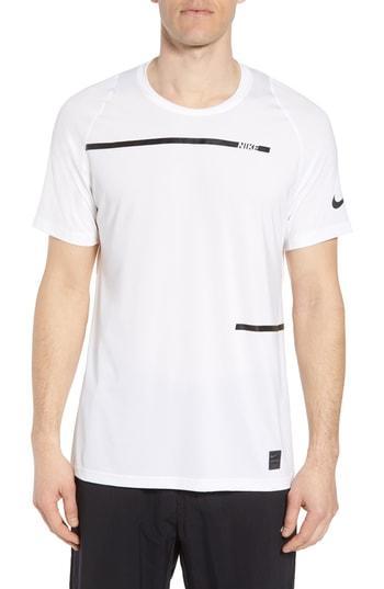dc5ef931335f8 Nike Pro Dry Logo T-Shirt In White/ Black | ModeSens