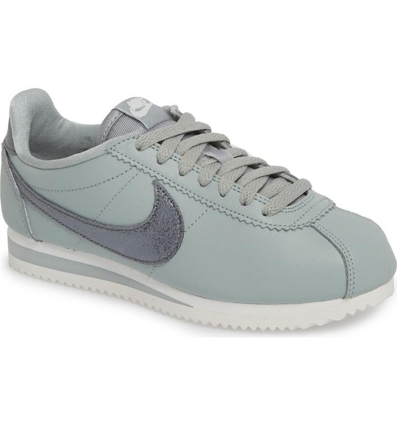 on sale 33450 58f7a Nike Classic Cortez Premium Sneaker In Light Pumice  Cool Grey