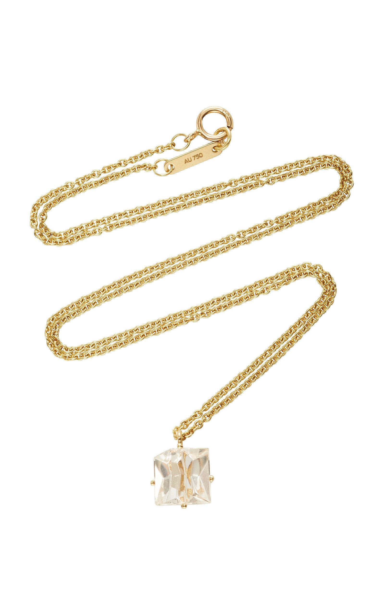 Misui 18k Gold Morganite Necklace