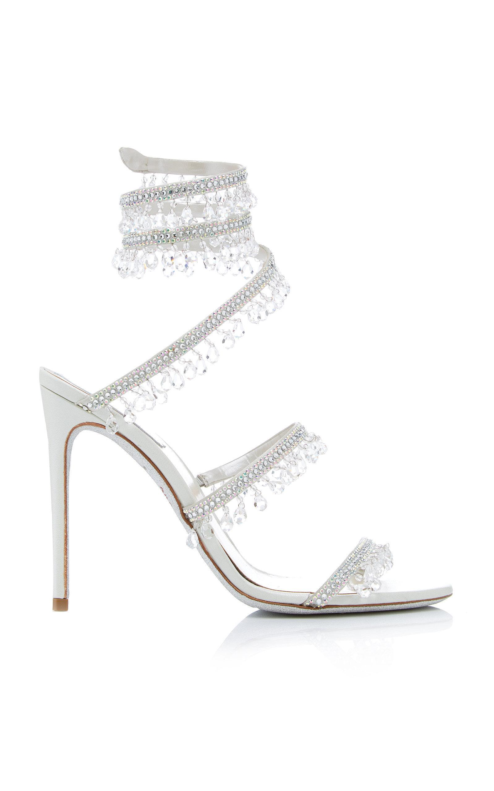 4b8a04978fa8ca RenÉ Caovilla Exclusive Crystal-Embellished Sandal In White