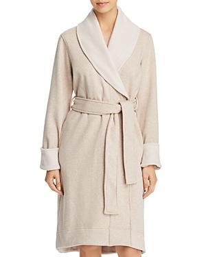 d6cdd8b387 Ugg Duffield Ii Double-Knit Fleece Robe In Oatmeal Heather