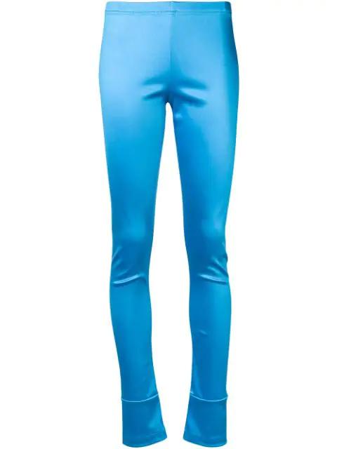 Junya Watanabe Skinny Fit Leggings In Blue