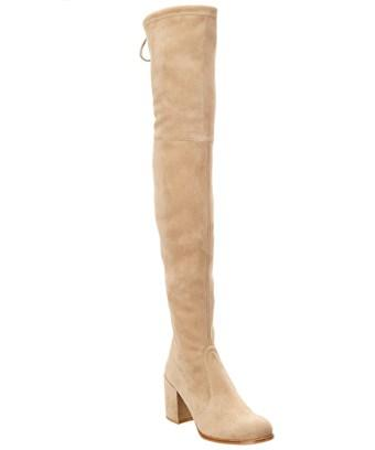 Stuart Weitzman Over-The-Knee Suede Boot In Brown